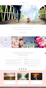 wedding planner homemade website